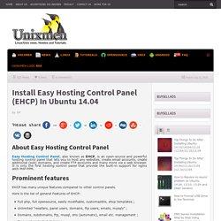 Install Easy Hosting Control Panel (EHCP) In Ubuntu