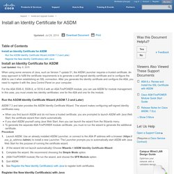 Install an Identity Certificate for ASDM