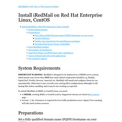 Install iRedMail on Red Hat Enterprise Linux, CentOS