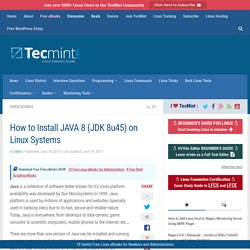 How to Install JAVA 8 (JDK 8u45) on Linux Systems
