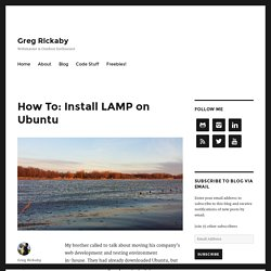 How To: Install LAMP on Ubuntu - Greg Rickaby