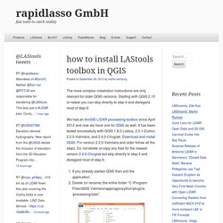 how to install LAStools toolbox in QGIS