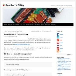 Install RPi.GPIO Python Library
