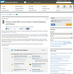 How to install SAP Lumira Server, Publish Datas...