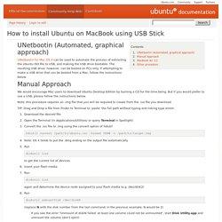 How to install Ubuntu on MacBook using USB Stick