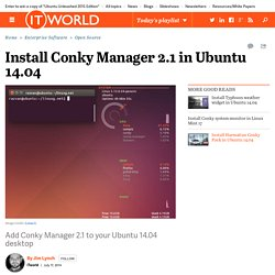 Install Conky Manager 2.1 in Ubuntu 14.04