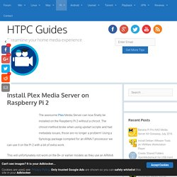 Install Plex Media Server on Raspberry Pi 2