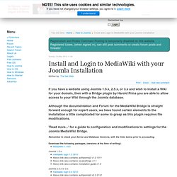 Install and Login to MediaWiki with your Joomla Installation