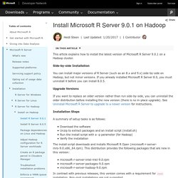 Install Microsoft R Server 9.0.1 on Hadoop