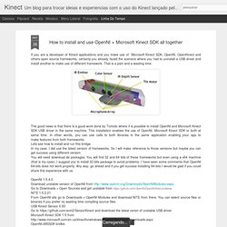 How to install and use OpenNI + Microsoft Kinect SDK all together