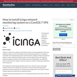 How to install Icinga network monitoring system on a CentOS 7 VPS