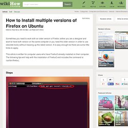 How to Install multiple versions of Firefox on Ubuntu: 5 steps