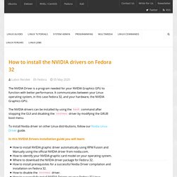 How to install the NVIDIA drivers on Fedora 32