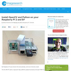 Install OpenCV and Python on your Raspberry Pi 2 and B+