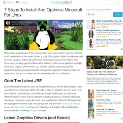 7 Steps To Install And Optimize Minecraft For Linux
