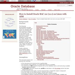How to Install Oracle RAC 12c (12.1) on Linux with ASM - Oracle Database