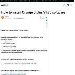 How to install Orange 5 plus V1.35 software