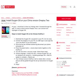 Guide - Install Oxygen OS on your China version Oneplus Two
