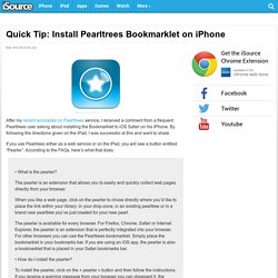 Quick Tip: Install Pearltrees Bookmarklet on iPhone