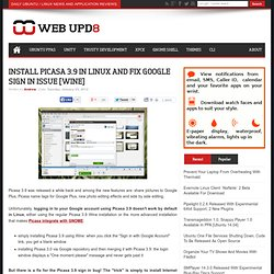 Install Picasa 3.9 In Linux And Fix Google Sign In Issue [Wine]