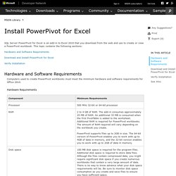 Install PowerPivot for Excel