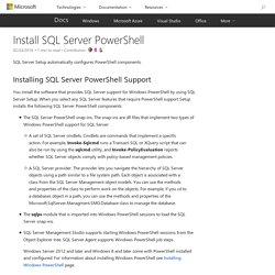 Install SQL Server PowerShell