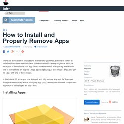 How to Install and Properly Remove Apps