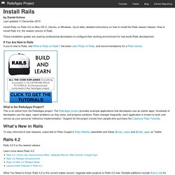 Install Rails 4.1 · Ruby on Rails Installation Guide