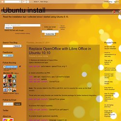 Replace OpenOffice with Libre Office in Ubuntu 10.10