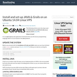 Install and set-up JAVA & Grails on an Ubuntu 14.04 Linux VPS