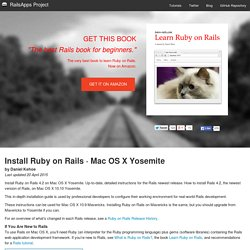 Install Ruby on Rails 4.1 · Mac OS X