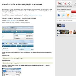 Install Save for Web GIMP plugin in Windows
