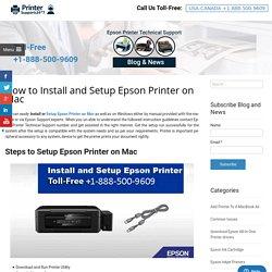 Install and Setup Epson Printer on Mac