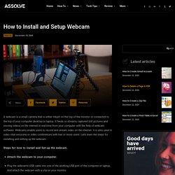 How to Install and Setup Webcam