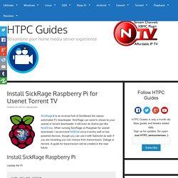 Install SickRage Raspberry Pi for Usenet Torrent TV