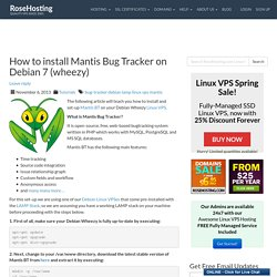 How to install Mantis Bug Tracker on Debian 7 (wheezy)