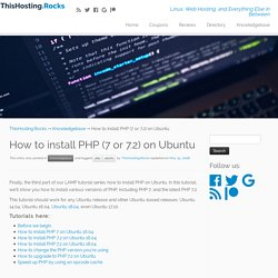 How to Install PHP (7 or 7.2) on Ubuntu – ThisHosting.Rocks