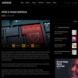 How to install & uninstall free avast antivirus