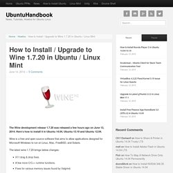 How to Install / Upgrade to Wine 1.7.20 in Ubuntu / Linux Mint