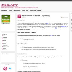 Install webmin on debian 7.6 (wheezy)