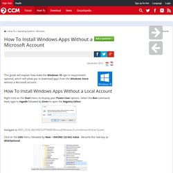 How To Install Windows Apps Without a Microsoft Account