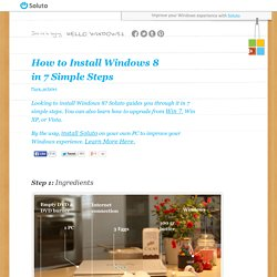 How to install Windows 8 in 7 simple steps