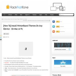 [How To] Install WinterBoard Themes On Any iDevice – On Mac or Pc