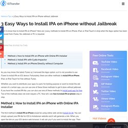 3 Easy Ways to Install IPA on iPhone without Jailbreak