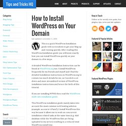 How to Install WordPress on Your Blog - instructions with screenshots
