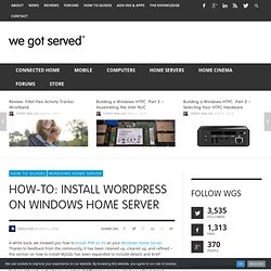 How-To: Install WordPress on Windows Home Server