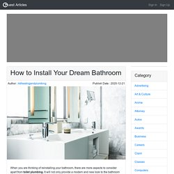 How to Install Your Dream Bathroom