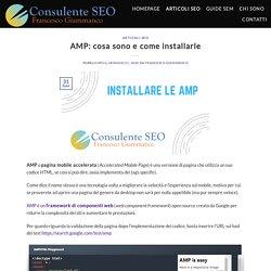 AMP: cosa sono e come installarle