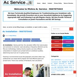 Ac Installation - 9667875443 - Ac Service