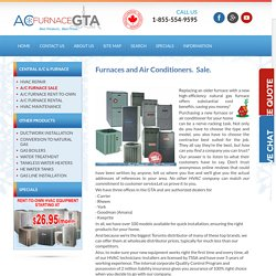 furnace sale at wholesale distributor price from ACfurnaceGTA